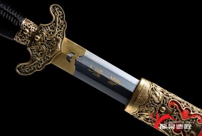 专利作品·职官佩剑-飞羽-自炼羽毛纹夹钢(三枚合)