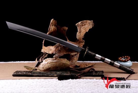 康熙战刀-百炼花纹钢