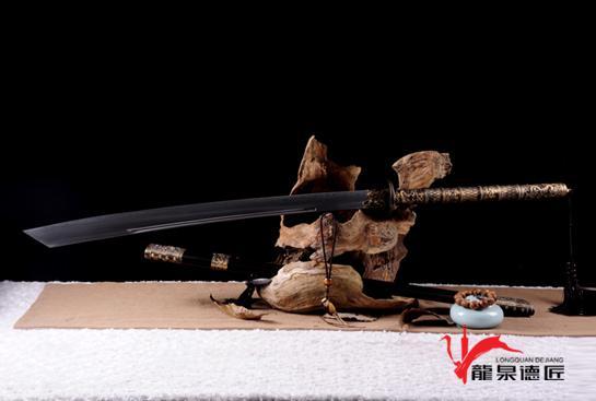 加长版康熙御刀-T10钢烧刃