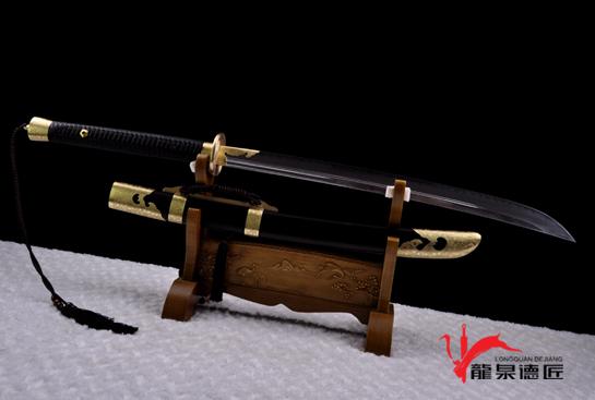 短款平雕斩马刀-T10烧刃