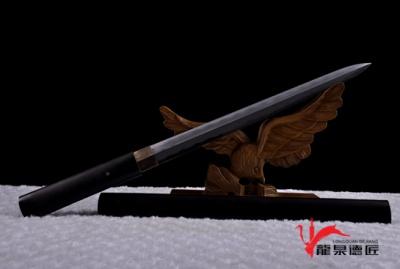 黑檀木装短剑-羽毛钢