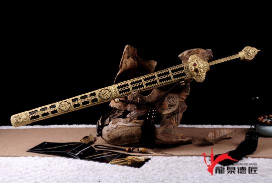 明·永乐剑-百炼花纹钢