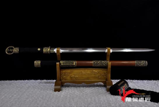专利作品·龙装环首剑-百炼花纹钢