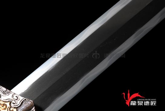 上研精雕八面汉剑-地肌夹钢(三枚合)