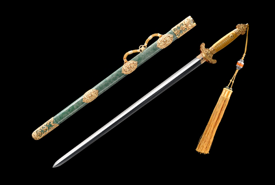 专利作品·职官佩剑-羽毛钢夹钢(三枚合)