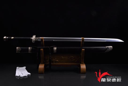 专利作品·黑金古刀-锰钢