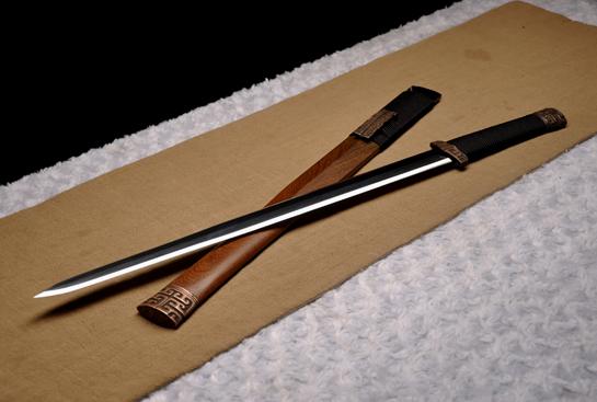 中款龙渊汉剑-不锈花纹钢