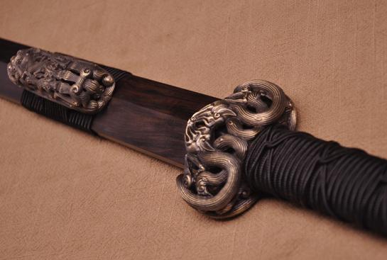 櫑具剑-冰裂纹夹钢(三枚合)