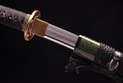 铜装小雍刀-百炼花纹钢