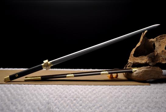 莫邪剑加长版-百炼花纹钢