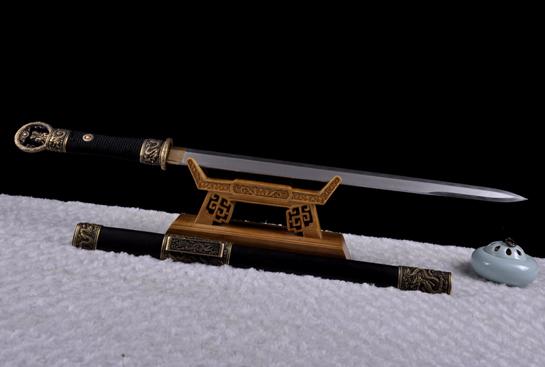 中款环首诸刃唐刀-百炼钢烧刃