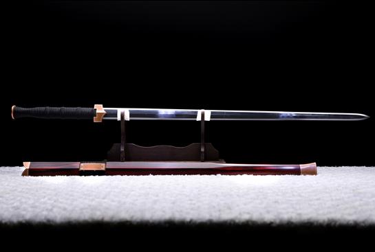 紫铜素汉剑-紫云-陨铁-草钢-紫铜嵌银丝-紫檀木鞘