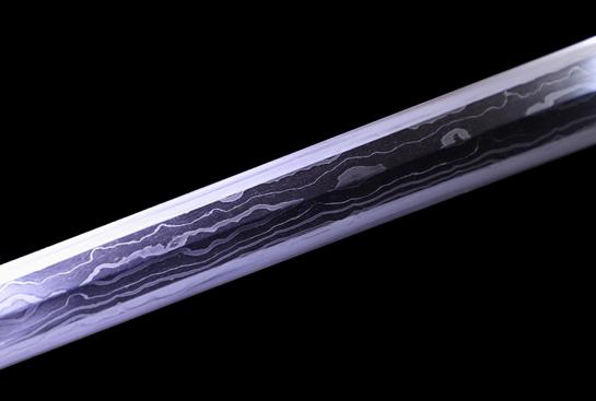 富贵牡丹剑-典藏版-草钢-毛铁-自炼钢-手工铁雕错银-紫檀木鞘(夹钢复合)