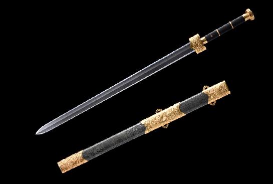 上古帝王剑-品尊版-扭转百炼钢-黄铜镀金