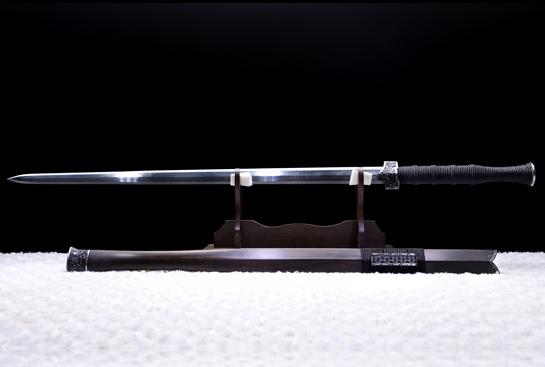 饕餮纹铁装错银汉剑-典藏版-夹钢(三枚合)