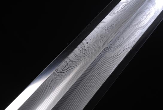 上古帝王剑-孤品-陨铁-草钢-纯银手工浮雕
