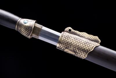 鱼肠剑-百炼钢夹钢(三枚合)