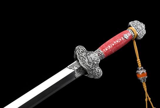 泉宗康熙佩剑-白铜限量版-自炼钢(孔雀纹)白铜镂空精制