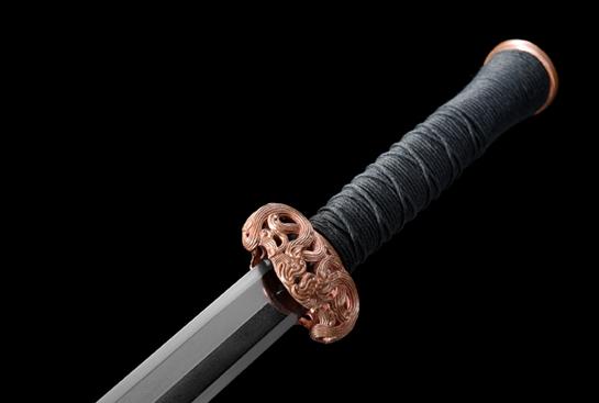 紫铜装櫑具剑-经典版-自炼钢(千目纹)