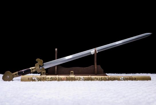 铜鞘系列之明·十二生肖剑-尊享版-自炼钢(千目纹)