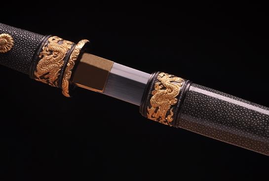 专利作品·龙装环首唐刀-极品旋焊夹钢(三枚合)