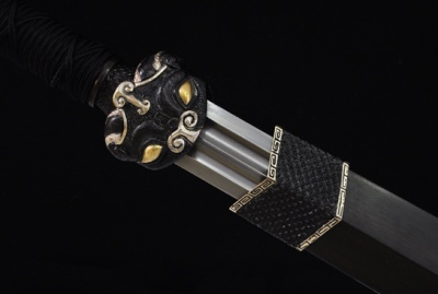 饕餮剑-龙之九子-百炼花纹钢