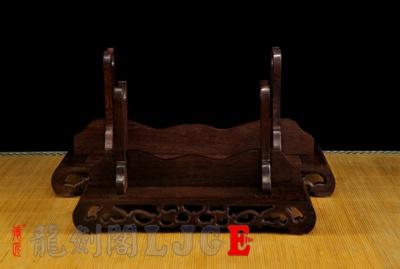 花梨木刀剑架-横放