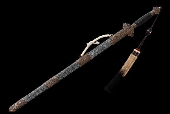 四君子剑-典藏版-独家千目纹-紫铜手工雕刻