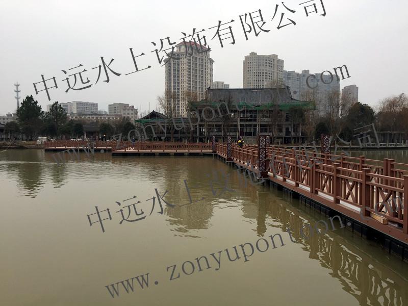浙江某景区配套高档水上浮桥完工