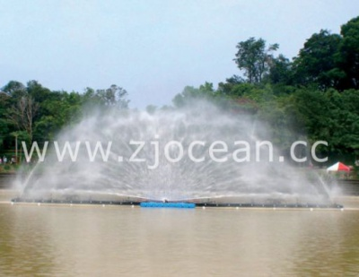 浙江某景区水上喷泉