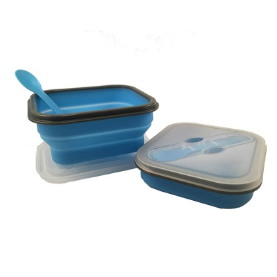 Wholesale china silicone food container 226g weight rectangle lunch box for kids