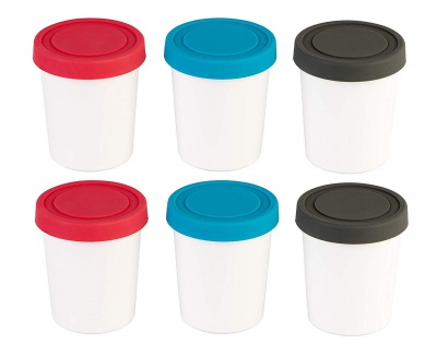 Ice Cream Freezer Storage Containers Food Storage- Set of 2 with Silicone Lids