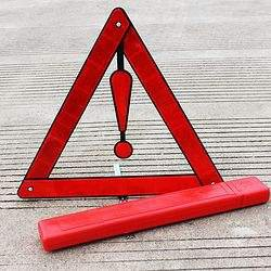 Square Box  Foldable Red Reflective Warning Triangle Frame Box  Weld rods box