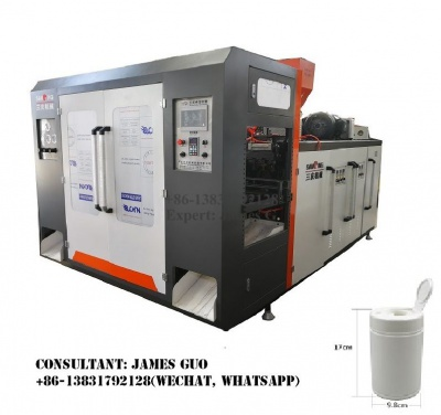 wet wipe canister bottle blowing machine