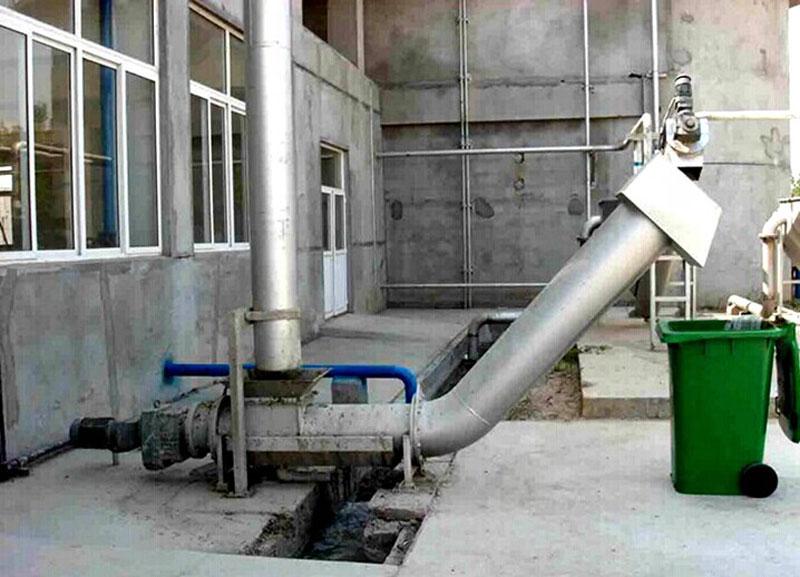 无轴螺旋输送机用于污水厂案例