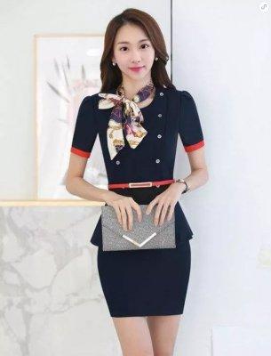 東莞職業裝訂做(女短裙款式4)