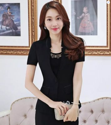 東莞職業裝訂做(女短裙款式3)