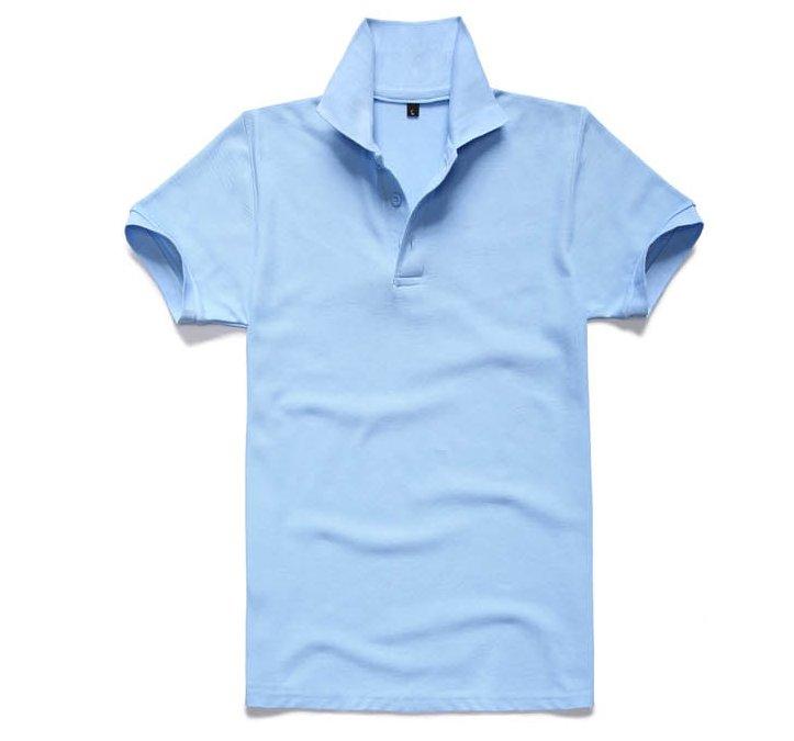 批发订做白色圆领短袖纯棉T恤衫