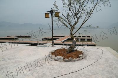 A resort wharf in zhejiang