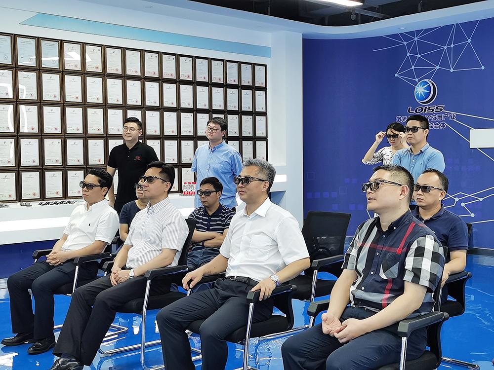 宁波市委常委宣传部长李军一行莅临维真显示...