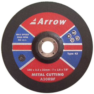 Depressed centre metal cutting discs (T42)