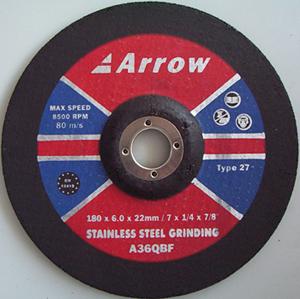 Depressed Centre stainless steel (INOX) Grinding Discs ( Type 27)