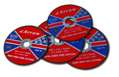 Flat stainless steel (INOX) cutting discs (T41)