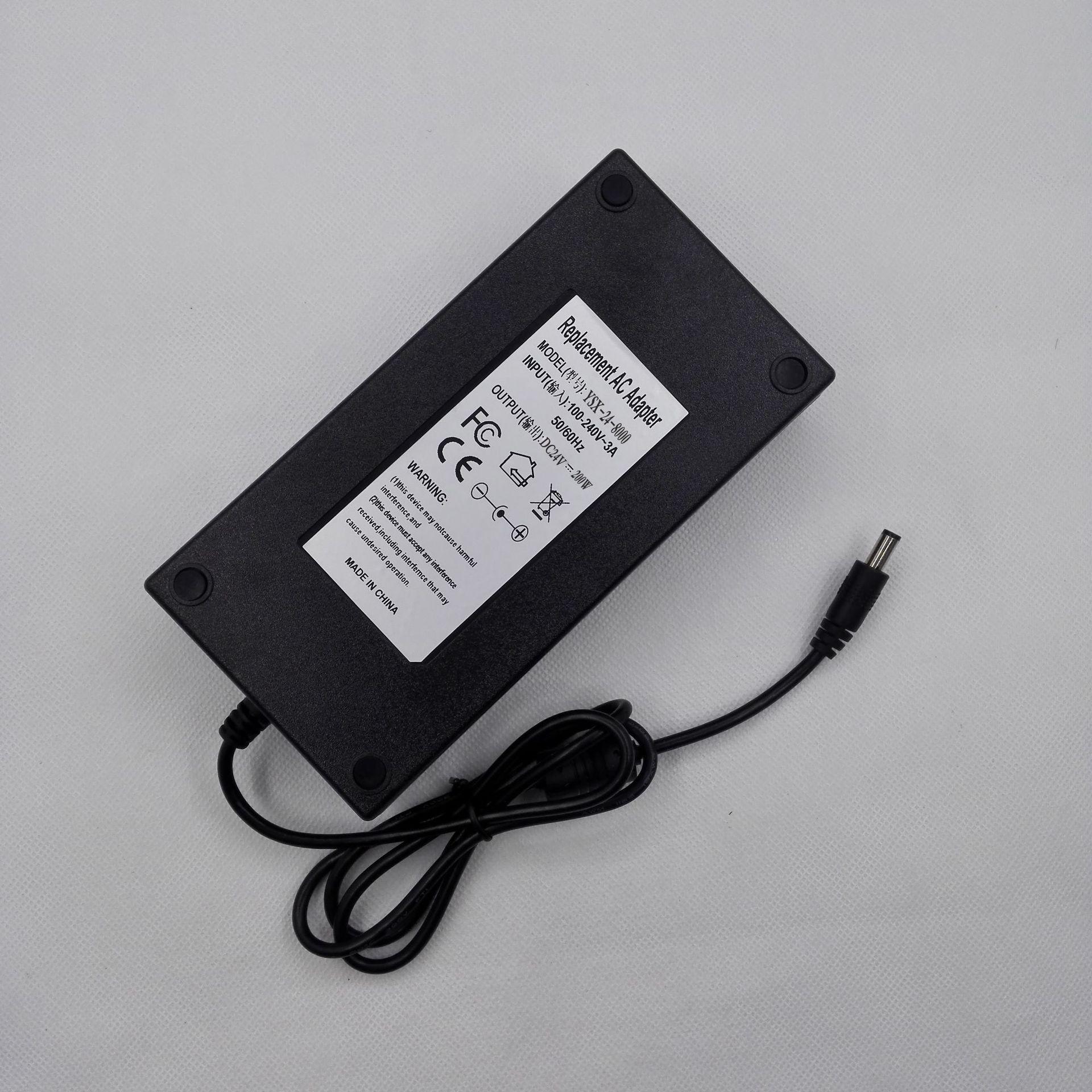200W大功率电源,24v8.5A打印机电源,LED广告灯箱适配器