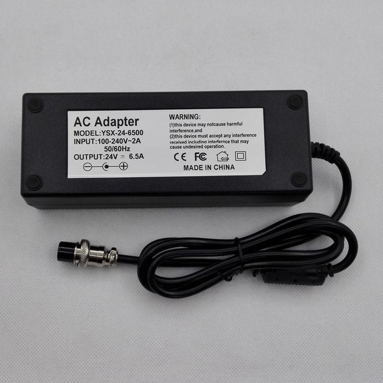 150W电源适配器,24V6.5A,航空头电源
