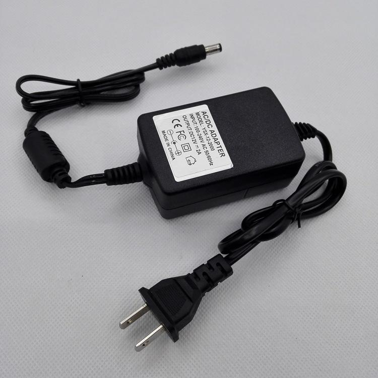 摄像头电源,12V2A, 安防监控适配器 2000MA24W,双组引线