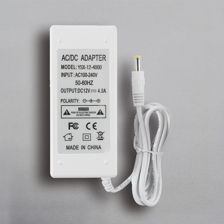 12v4A白色桌面式电源适配器