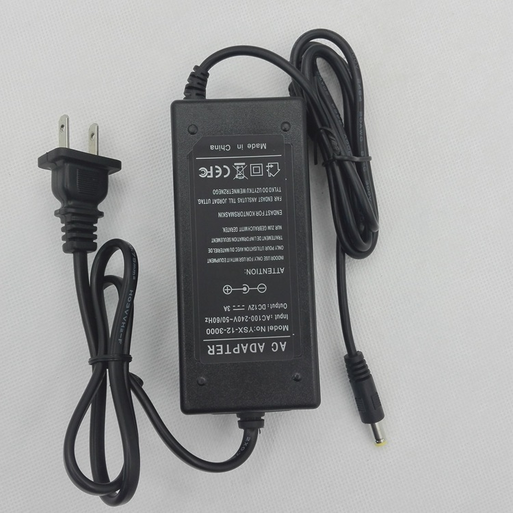 足安稳压电源,12V3A双线适配器 LED灯具显示器电源,36W输出