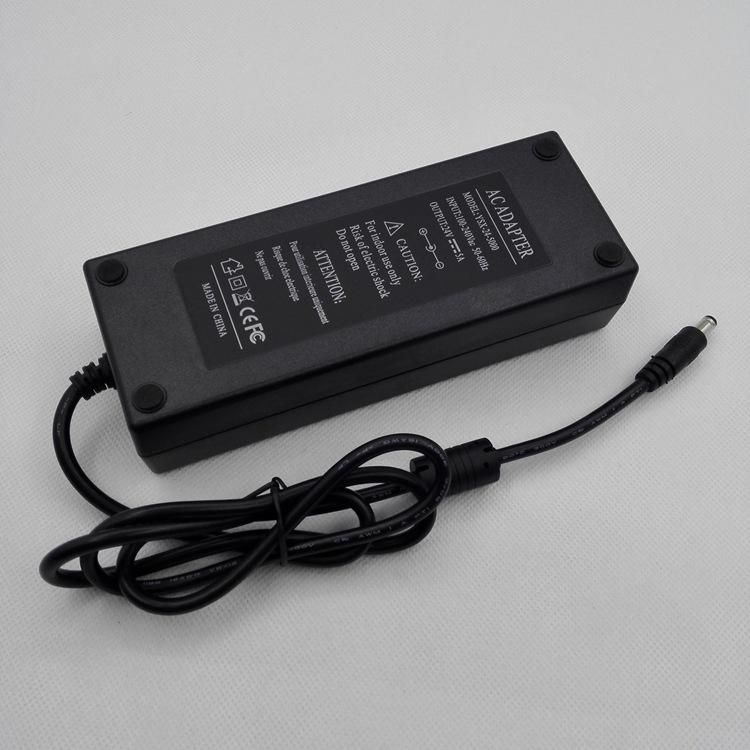 胶壳开关电源适配器,24v5A,直头转换器,DC弯头电源,120W