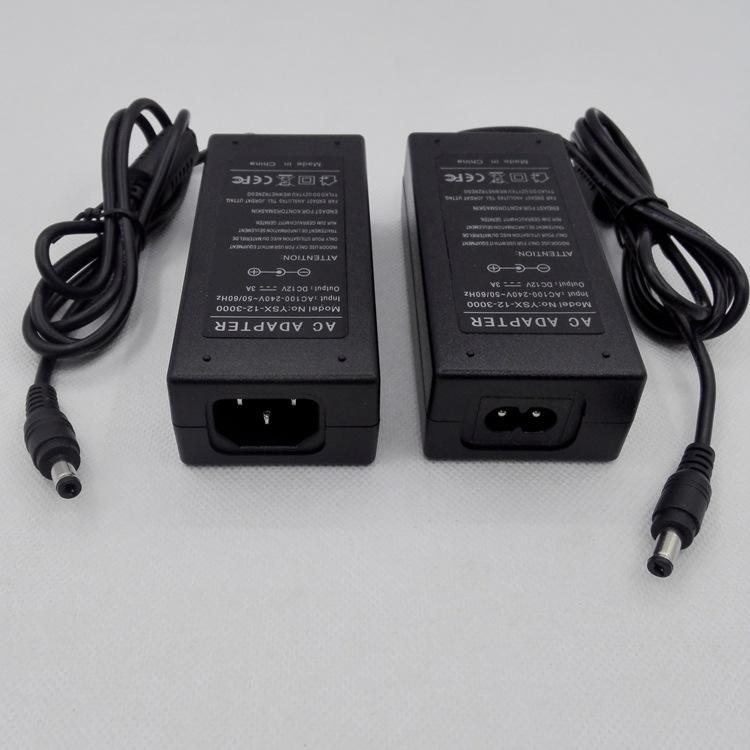 监控电源,15V3A,弯头适配器,LED灯条液晶示屏电源,45W